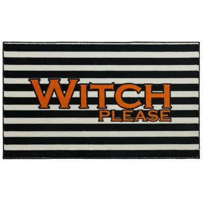 Witch Please Black 2 ft. 6 in. x 4 ft. 2 in. Holiday Area Rug