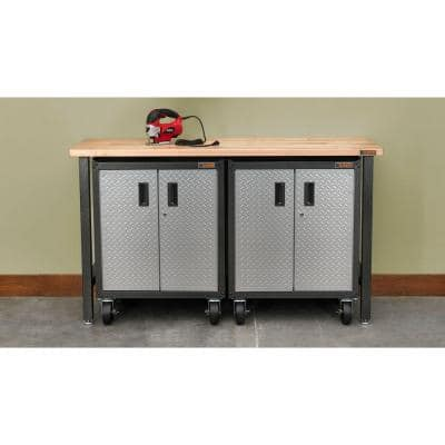 Caster Kit for Ready to Assemble Freestanding Garage Cabinets