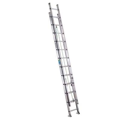 24 ft. Aluminum Extension Ladder with 225 lbs. Load Capacity Type II Duty Rating