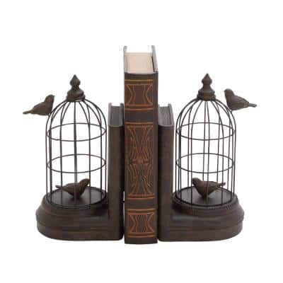 Black Metal Farmhouse Animals Bookends 10 in. x 6 in. (Set of 2)