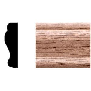 3/8 in. x 1-1/4 in. x 84 in. Oak Panel Moulding