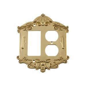Nostalgic Warehouse Brass 2 Gang 1 Toggle 1 Duplex Wall Plate 1 Pack 719743 The Home Depot