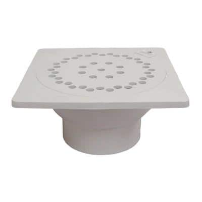 9 in. x 9 in. PVC Bell Trap with 3 in. x 4 in. Outlet
