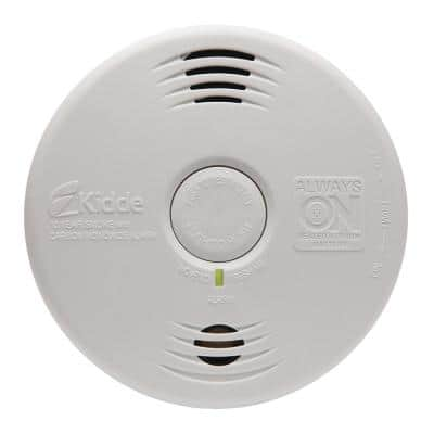 10-Year Worry Free Smoke & Carbon Monoxide Detector, Lithium Battery Powered with Photoelectric Sensor and Voice Alarm