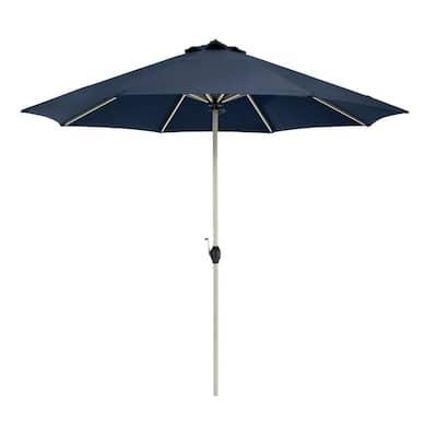 Montlake 9 ft. Aluminum Market Patio Umbrella in Heather Indigo
