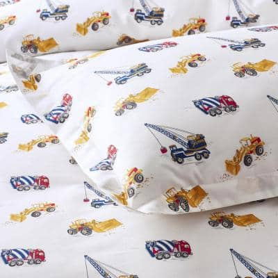 Company Kids™ Builder's Site Multicolored Organic Cotton Percale Comforter Set