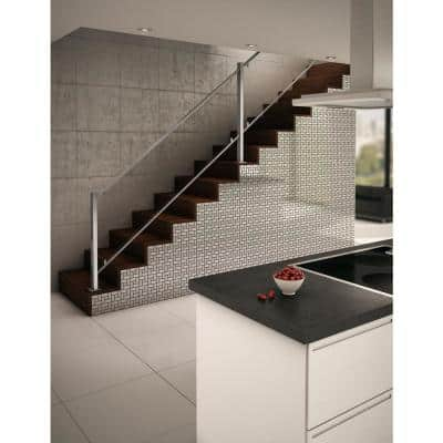 California Silver Stainless Steel 11.3 in. X 11.3 in. X 5 mm Metal Peel and Stick Wall Mosaic Tile (21.36 sq. ft./case)