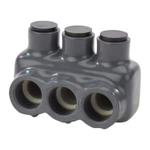 3/0-4 AWG and 2/0-2 AWG Bagged Insulated Connector, Grey