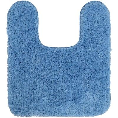 Duo Blue 20 in. x 22 in. Nylon Machine Washable Bath Mat