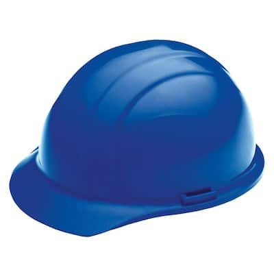4 Point Nylon Suspension Slide-Lock Cap Hard Hat in Blue