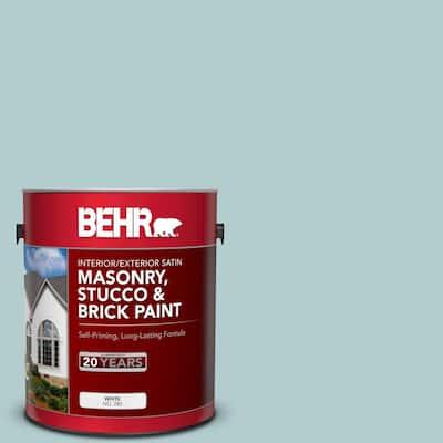 1 gal. #PPU13-15 Clear Pond Satin Interior/Exterior Masonry, Stucco and Brick Paint