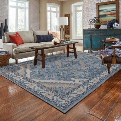 Aponi Blue 8' x 10' Hand Knotted Area Rug