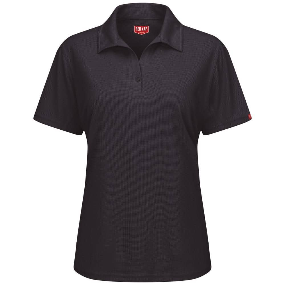 Red Kap Women's Size 3XL Black FeProfessional Polo-SK91BK SS 3XL - The Home Depot
