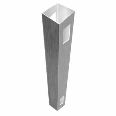 5 in. x 5 in. x 8.5 ft. Driftwood Gray Vinyl Fence Line Post