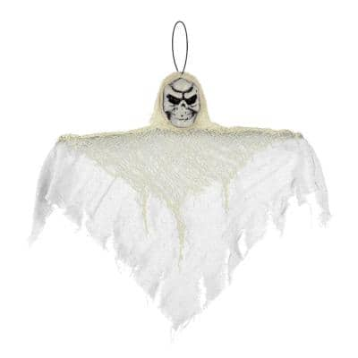 12 in. Small White Halloween Hanging Reaper (10-Pack)