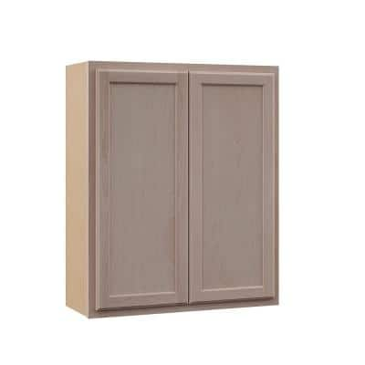 Hampton Unfinished Beech Raised Panel Stock Assembled Wall Cabinet (30 in. x 36 in. x 12 in.)