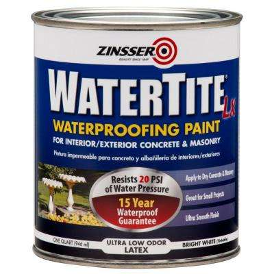 1 qt. WaterTite LX Low VOC Mold and Mildew-Proof White Water Based Waterproofing Paint (6-Pack)