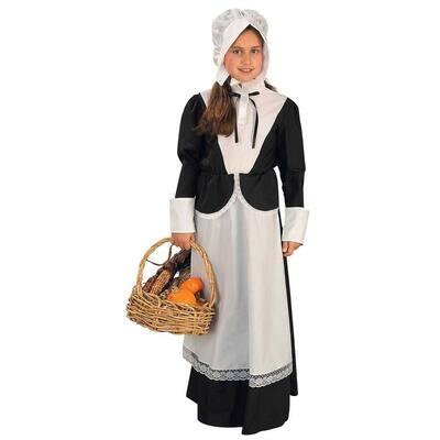 Medium Colonial Pilgrim Girl Costume