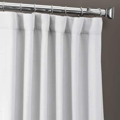 Chalk Off White Rod Pocket Blackout Curtain - 50 in. W x 108 in. L