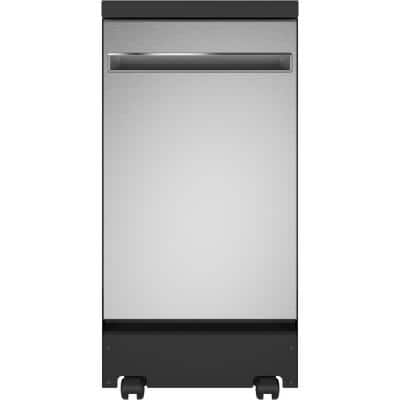 18 in. Stainless Steel Portable Dishwasher 120-Volt with 8 Place Settings Capacity and 52 dBA