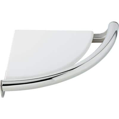Traditional Corner Shelf 8-1/2 in. x 7/8 in. Concealed Screw Assist Bar in Chrome