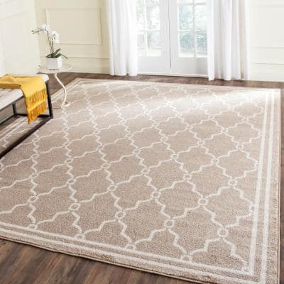 Amherst Wheat/Beige 8 ft. x 10 ft. Rectangle Area Rug