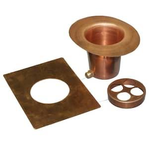 Monarch Rain Chain Installation Kit in Pure Copper (3-Piece)