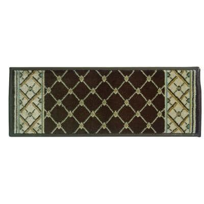Stratford Bedford Brown 9 in. x 26 in. Stair Tread Cover