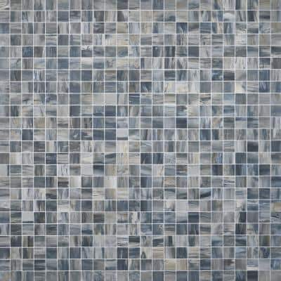 Selawood Blue 11.81 in. x 11.81 in. Matte Porcelain Floor and Wall Mosaic Tile (0.96 sq. ft./Each)