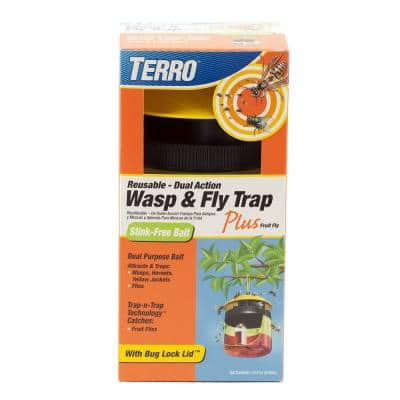 Outdoor Reusable Wasp and Fly Plus Fruit Fly Trap