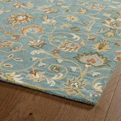 Middleton Turquoise 9 ft. x 12 ft. Area Rug