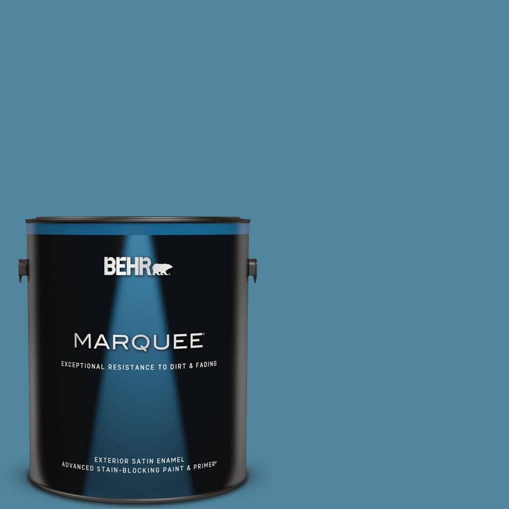 Behr Marquee 1 Gal S490 5 Jay Bird Satin Enamel Exterior Paint Primer 945401 The Home Depot