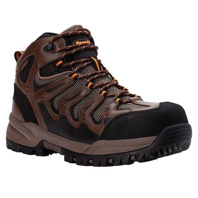Men's Waterproof 4-1/2 in. Sentry Work Boots - Soft Toe - Puncture Resistant - Brown/Orange Size 11.5 Medium (D)