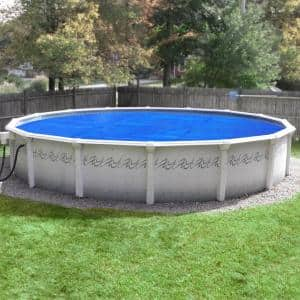 Premium 10-Year 21 ft. Round Blue/Silver Solar Pool Cover