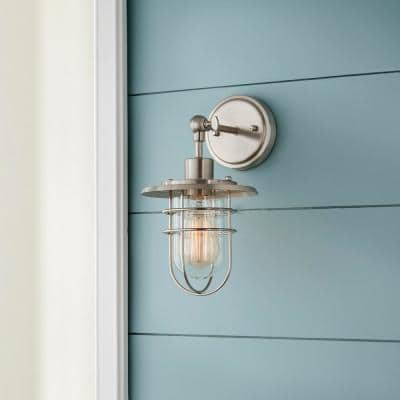 1-Light Brushed Nickel Wall Sconce