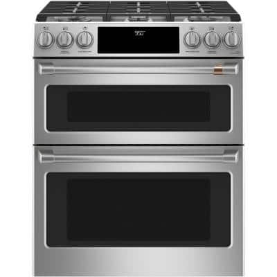 7.0 cu. ft. Smart Slide-In Double Oven Dual-Fuel Range with Self-Clean Convection in Stainless Steel