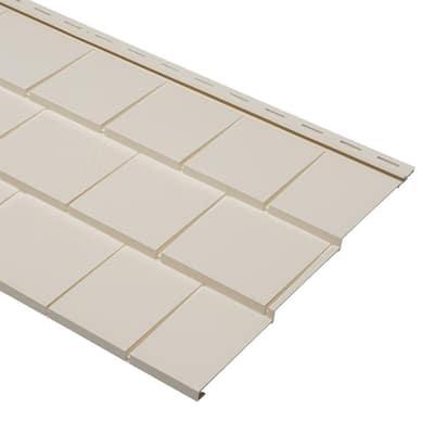 9 x 24 in. Beige Polypropylene Take Home Sample Cedar Dimensions Triple 5 Shingle Siding