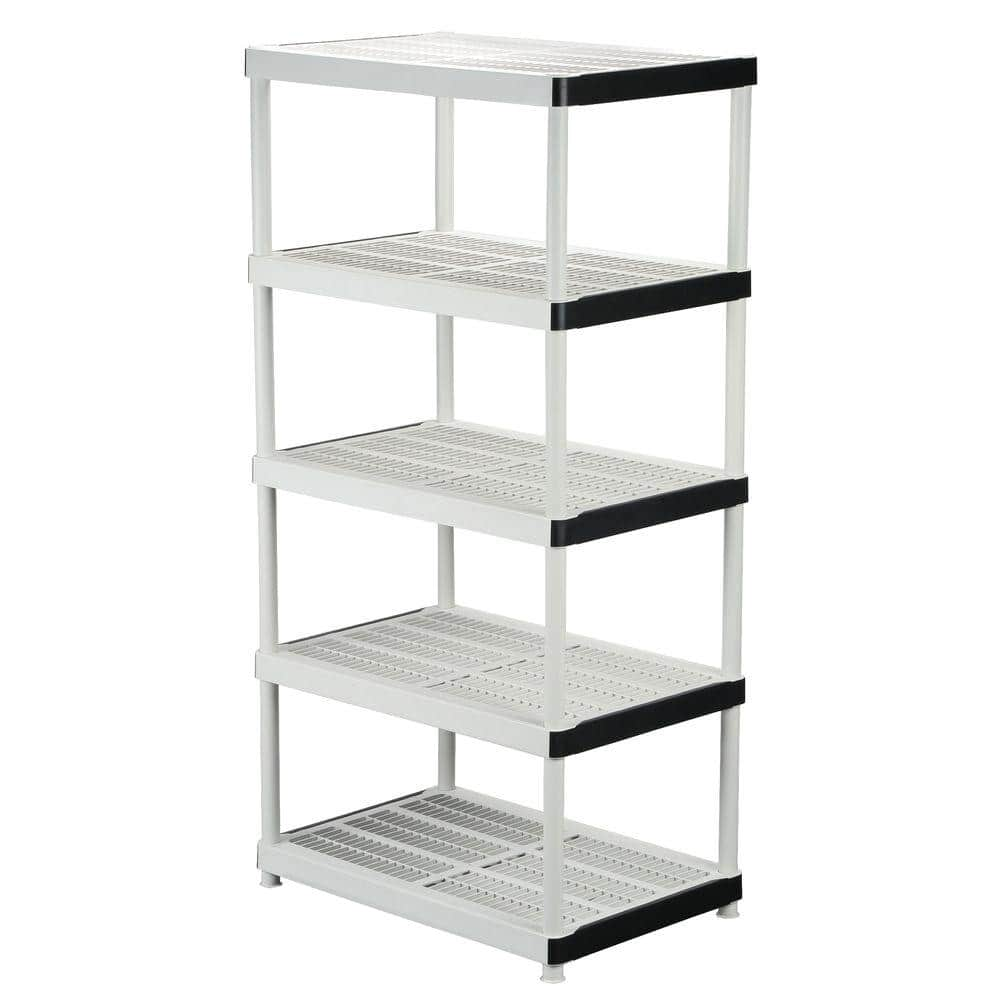 HDX Gray 20 Tier Plastic Garage Storage Shelving Unit 20 in. W x 20 in. H x  20 in. D 20   The Home Depot
