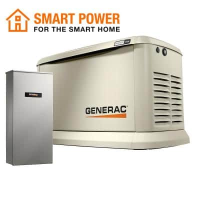 Guardian 22,000-Watt (LP) / 19,500-Watt (NG) Air-Cooled Whole House Generator with Wi-Fi and 200-AmpTransfer Switch