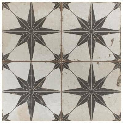 Kings Star Nero 17-5/8 in. x17-5/8 in. Ceramic Floor and Wall Tile (11.02 sq. ft. /Case)