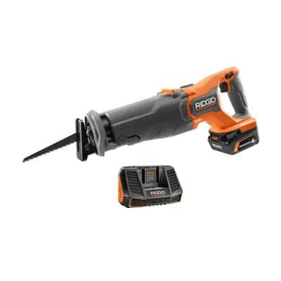 18V Brushless Cordless Reciprocating Saw Kit with 4.0 Ah MAX Output Battery and Charger