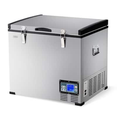63-Quart Portable Electric Car Cooler Refrigerator/Freezer Compressor Camping