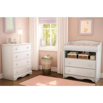 Heavenly 2-Drawer Pure White Changing Table