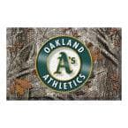 MLB - Oakland Athletics 19 in. x 30 in. Outdoor Camo Scraper Mat Door Mat