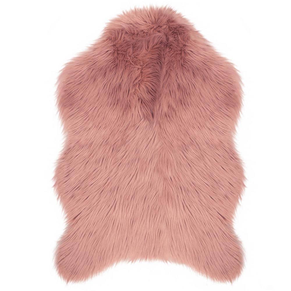 Jean Pierre Faux Fur Shag Blush 2 5 Ft