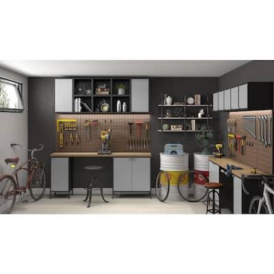 Smart Steel 4-Shelf Wall Mounted Garage Cabinet in White (14 in W x 13 in H x 11 in D)