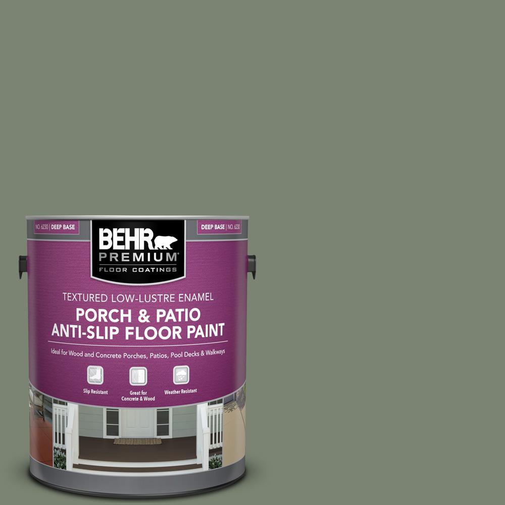 1 gal. #ICC-77 Sage Green Textured Low-Lustre Enamel Interior/Exterior Porch and Patio Anti-Slip Floor Paint