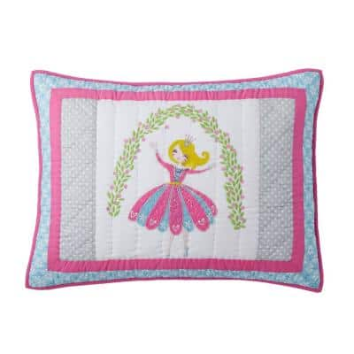 Storybook Princess Cotton Patchwork Standard Sham