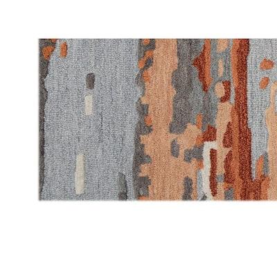Northfield Orange/Grey 8 ft. x 10 ft. Area Rug