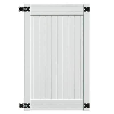Wexford 3.5 ft. x 6 ft. White Vinyl Privacy Fence Gate